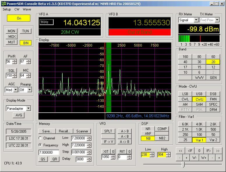 Amateur Radio Station KD5TFD - PowerSDR Logarithmic Filter